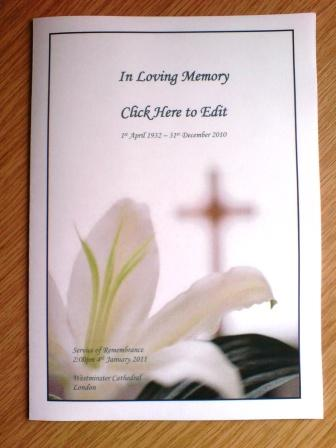 cala funeral order of service free sample download the free template ...